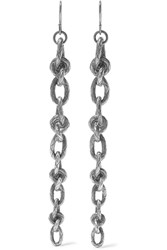 Bottega Veneta Oxidized Silver Earrings