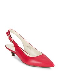 Anne Klein Expert Kitten Heel Slingback Pumps Red