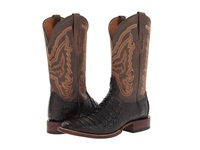 Lucchese M4539 Cigar Hornback Caiman Chocolate Mad Dog Cowboy Boots Black