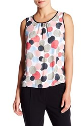 Anne Klein Sleeveless Polka Dot Blouse Multi