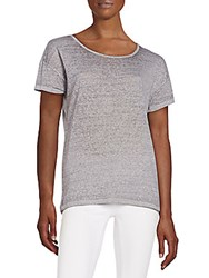 Threads 4 Thought Mindy Organic Cotton Blend Cutout Back Tee Heather Stripe
