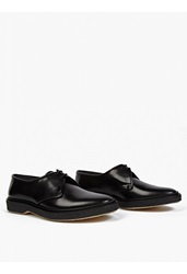 Adieu Black Leather Type 1' Derby Shoes