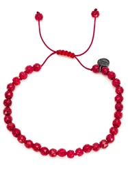 Joseph Brooks Coral Beaded Bracelet Red