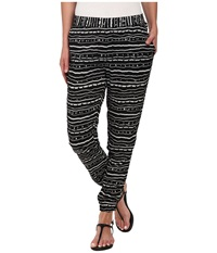 Vans Firecracker Side Stripe Pants Black White Women's Casual Pants