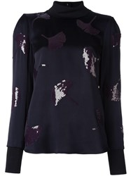 3.1 Phillip Lim Sequin Ginkgo Top Black