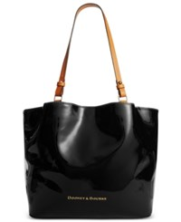 Dooney And Bourke City Patent Leather Flynn Tote Black