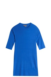Vince Ribbed T Shirt Blue