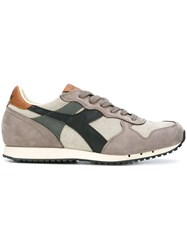Diadora Panelled Sneakers Grey