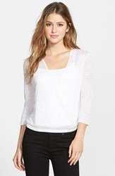Nic Zoe Women's '4 Way' Convertible Three Quarter Sleeve Cardigan Paper White