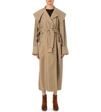 J.W.Anderson Oversized Cotton Twill Coat Camel