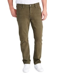 William Rast Dean Slim Fit Five Pocket Jeans Olive Night