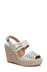 Women's Trask 'Willow' Leather Platform Wedge Sandal