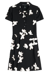 Marc By Marc Jacobs Printed Crepe Dress With Buckles Florals