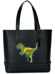 Coach Dinosaur Patch Tote Bag Black