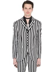 John Varvatos Striped Cotton Blend Jacket