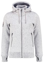 Superdry Expedition Cardigan Light Grey Grit Mottled Light Grey