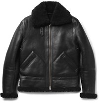 Acne Studios Ian Shearling Jacket Black