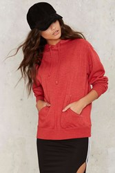 Griffith Park Hooded Sweater Red