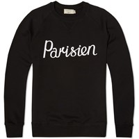 Maison Kitsune Parisien Crew Sweat Black