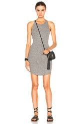Enza Costa Rib Tank Baseball Dress In Gray