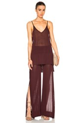 Soyer V Neck Camisole Top In Red Purple