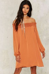 Say What You Sheen Mini Dress Orange