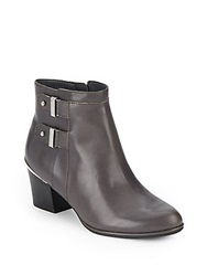Isaac Mizrahi Justice Leather Ankle Boots Gray