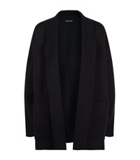 Eileen Fisher Shawl Collar Open Cardigan Female Black