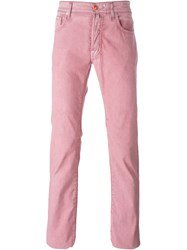 Jacob Cohen Slim Fit Jeans Pink And Purple
