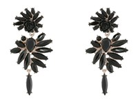 French Connection Stone Statement Chandelier Earrings Rose Gold Black Earring