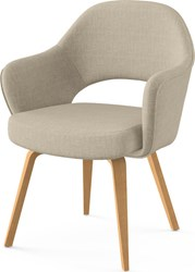 Knoll Saarinen Executive Arm Chair With Wooden Legs