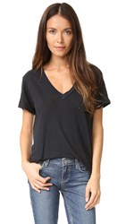 Current Elliott The V Neck Tee Black Beauty All Torn