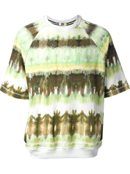 Msgm Printed Top Green