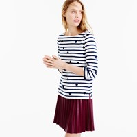 J.Crew Boatneck T Shirt In Dotted Stripes