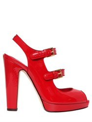 Alexander Mcqueen 120Mm Patent Leather Sandals