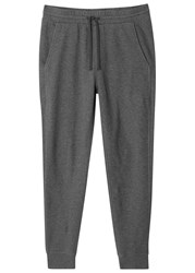 Vince Thermal Knit Cotton Jogging Trousers Charcoal
