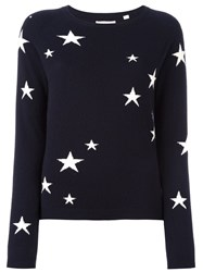 Chinti And Parker Star Intarsia Sweater Blue
