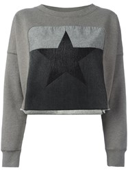 Diesel Star Patch Sweatshirt Grey