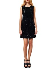 Miss Selfridge Star Cutout Shift Dress Black