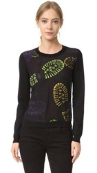 Moschino Printed Sweatshirt Black Multi