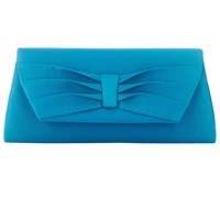 Jacques Vert Pleated Detail Clutch Bag Turquoise