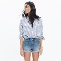 Madewell High Rise Denim Boyshorts In Bo Wash