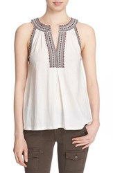 Women's Soft Joie 'Yvanna' Embroidered Sleeveless Top
