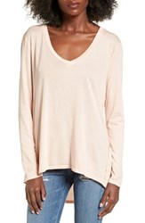 Michelle By Comune Women's Omaha High Low Tee Peach