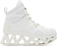 Marc By Marc Jacobs White Cut Out Platform Tech Sneakers