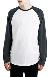 Topman Raglan Baseball T Shirt Black Multi
