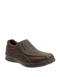 Clarks Cotrell Leather Low Top Boots Brown Oily