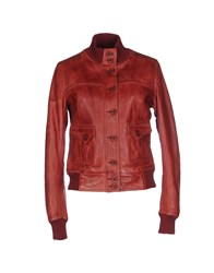 Le Sentier Coats And Jackets Jackets Women Maroon