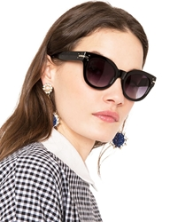 Pixie Market Bedford Black Sunglasses
