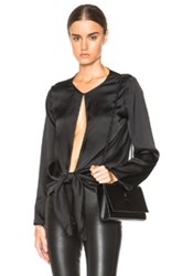 Christopher Esber Frame Key Hole Top In Black
